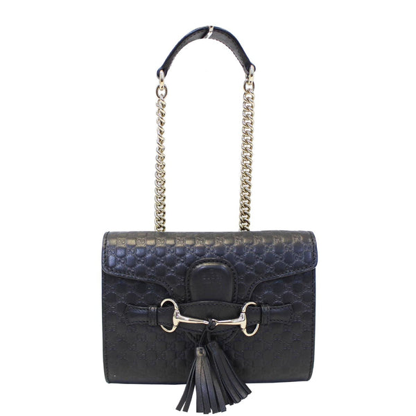 Gucci Shoulder Bag Emily Mini Micro GG Guccissima Leather
