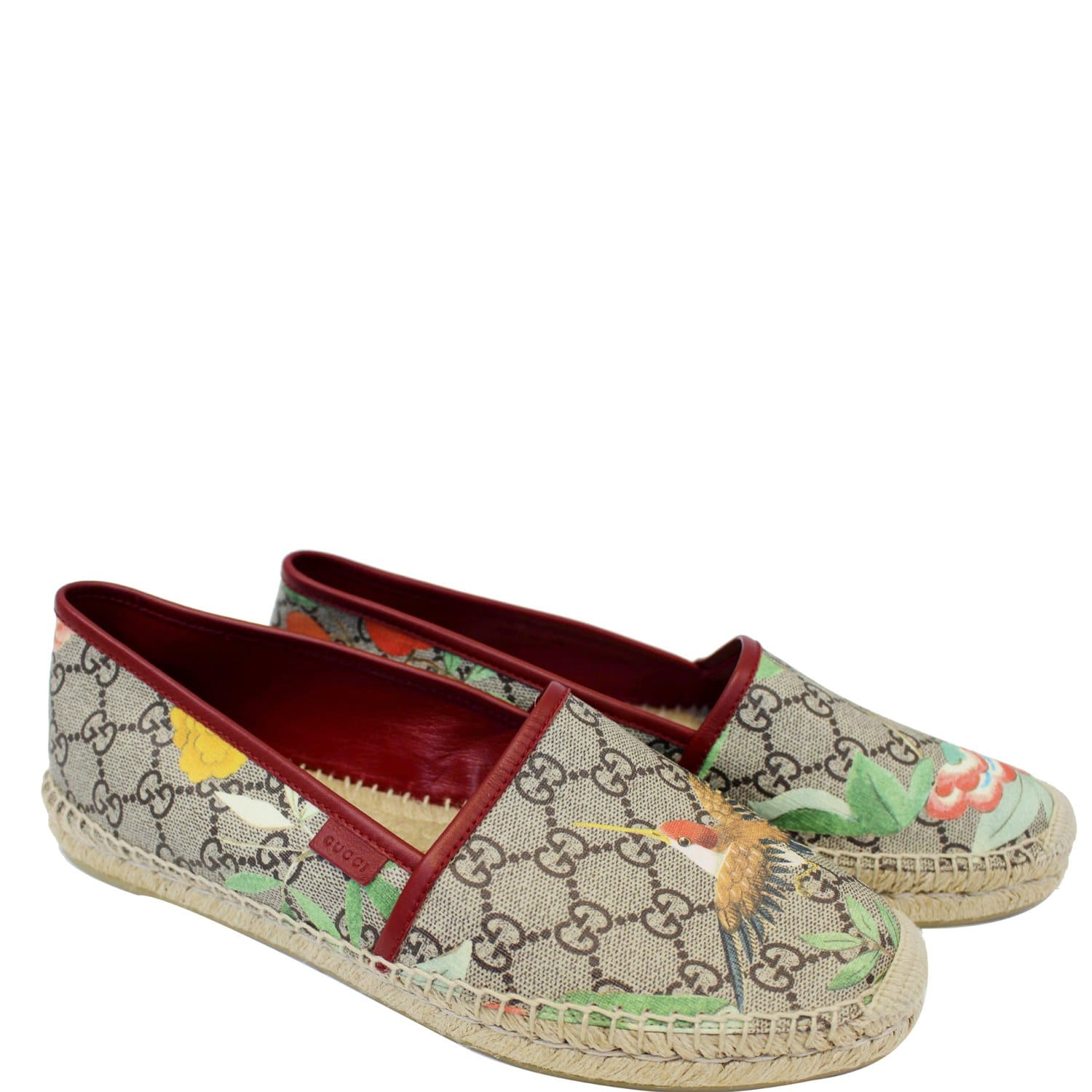 77068ad7a19 GUCCI GG Blooms Supreme Espadrille Flats Size 42-US