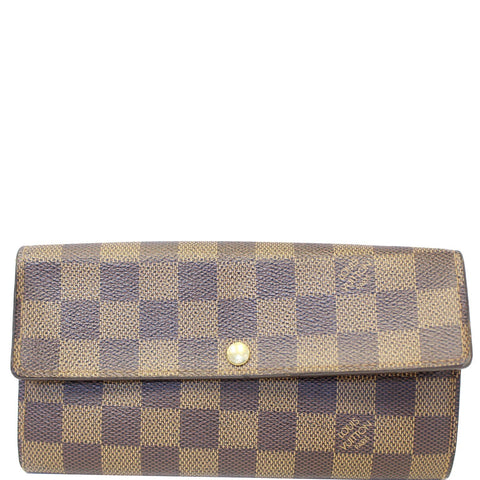 LOUIS VUITTON Sarah Damier Ebene Wallet Brown
