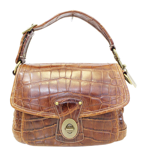 COACH Legacy Ali Alligator Leather Shoulder Bag Limited Edition