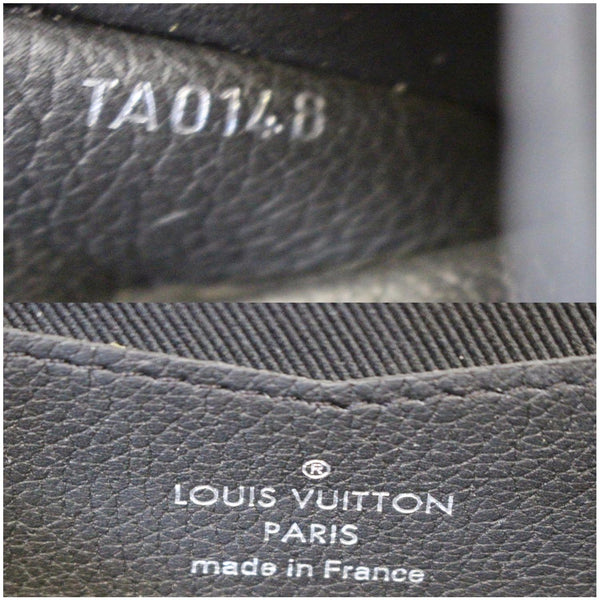 Louis Vuitton Lockme II Calfskin Leather Pouch logo