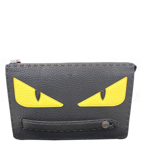 FENDI Bag Bugs eyes Roman Leather Clutch