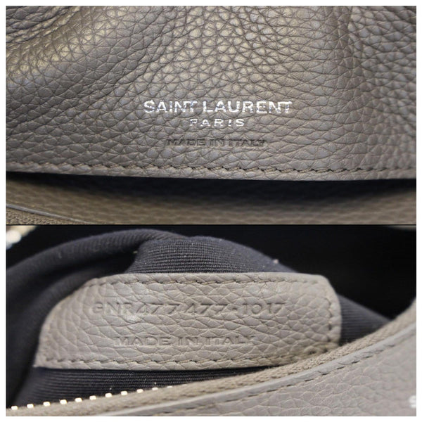 YVES SAINT LAURENT Sac de Jour Small Grained Leather Shoulder Bag Grey-US