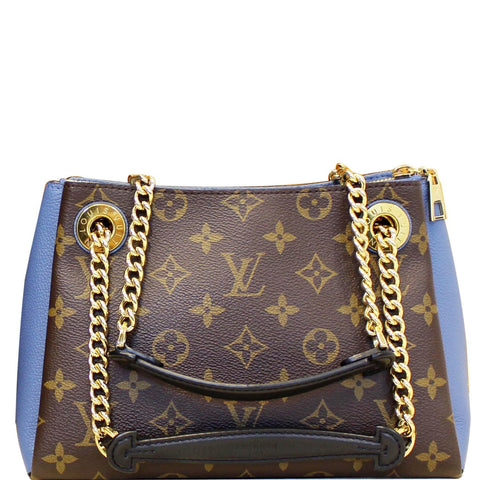 LOUIS VUITTON Surene BB Monogram Canvas Shoulder Bag Bleu Jean