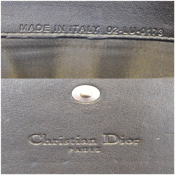 CHRISTIAN DIOR Lady Dior Croisiere Cannage Lambskin Chain Wallet Black-US