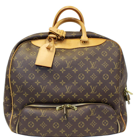 LOUIS VUITTON Evasion Monogram Canvas Boston Travel Bag Brown