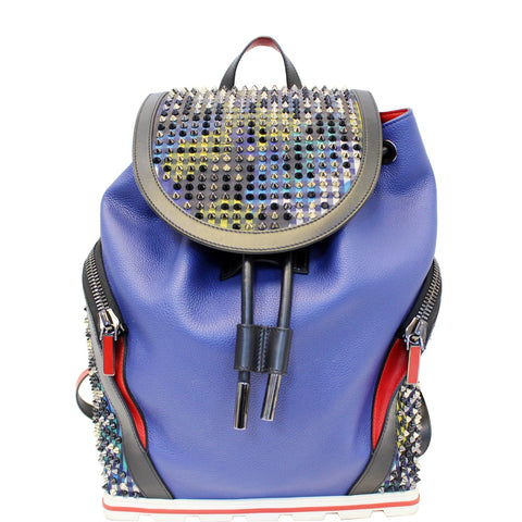 Christian Louboutin Explorafunk Backpack Bag Blue