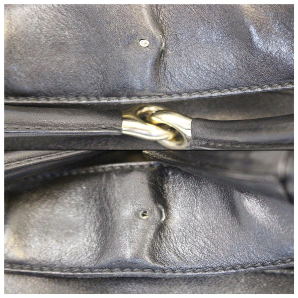 Gucci Hobo Bag Horsebit Large Black Leather - zip