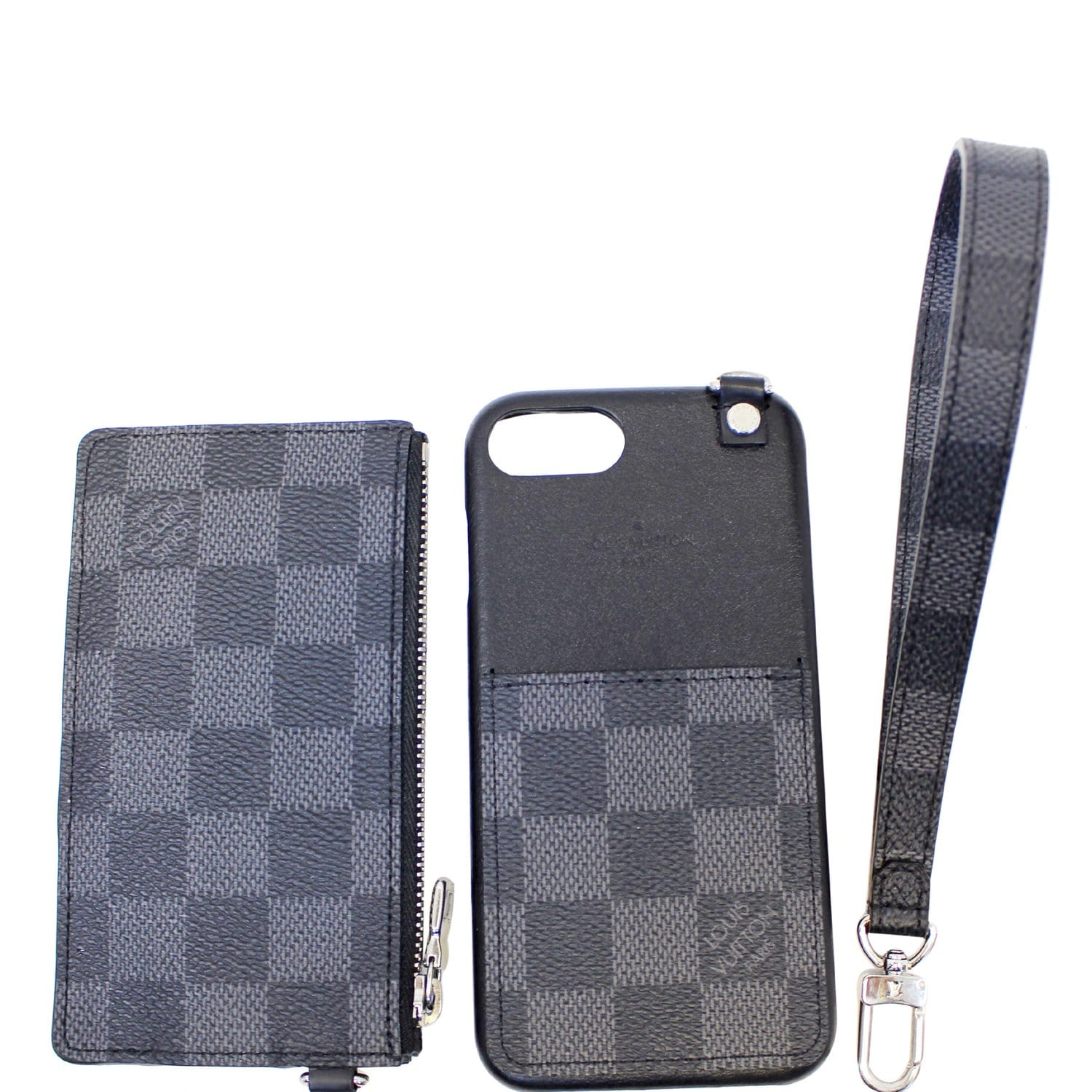pretty nice 292b4 ca251 Louis Vuitton Damier Graphite Playphone Iphone 8 Cover w/ Coin Case-US