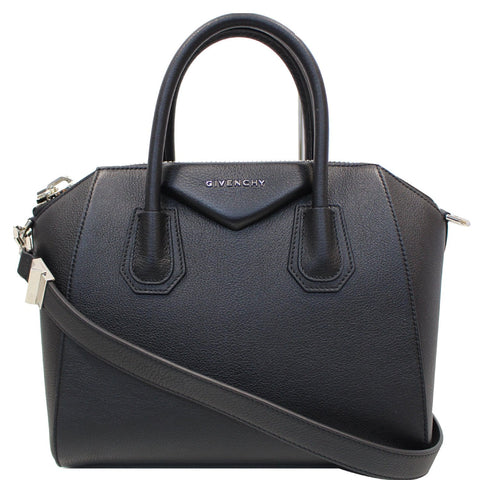 GIVENCHY Antigona Small Leather Shoulder Bag Black