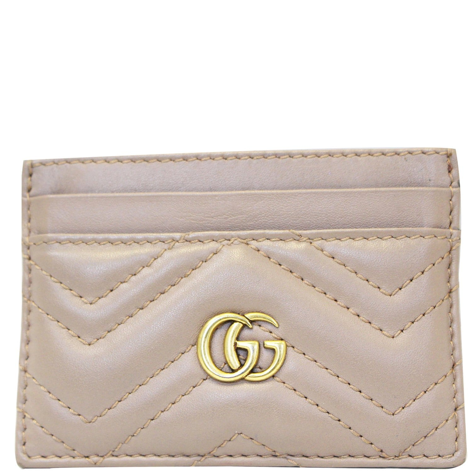 5db357f8f98873 GUCCI GG Marmont Leather Card Case Dusty Pink-US
