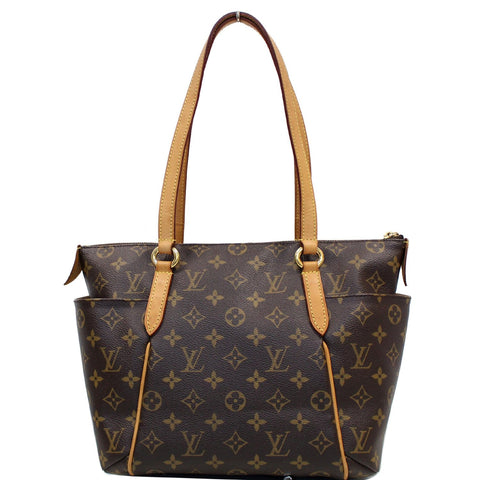 LOUIS VUITTON Totally PM Monogram Canvas Shoulder Bag Brown