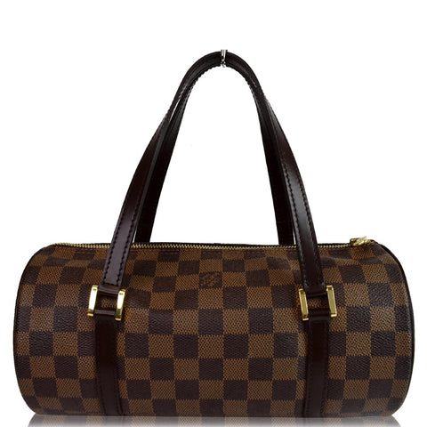 LOUIS VUITTON Papillon Damier Ebene Shoulder Bag Brown