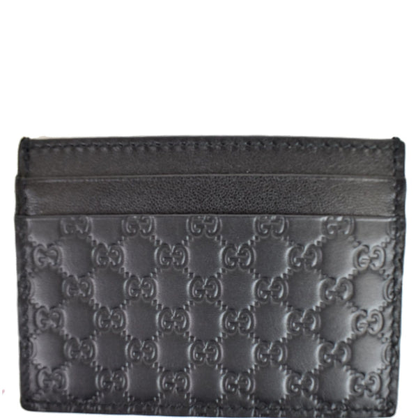 GUCCI Microguccissima Card Case Black 476010
