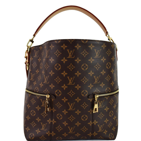 LOUIS VUITTON Melie Monogram Canvas Hobo Bag Brown