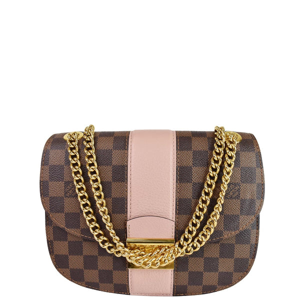 Louis Vuitton Wight Damier Ebene Crossbody Bag Magnolia - elegant front look