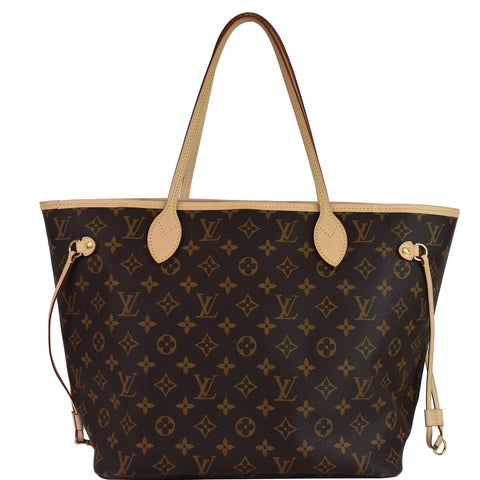 LOUIS VUITTON Neverfull MM Monogram Canvas Shoulder Bag Brown