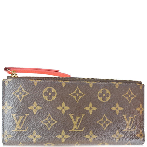 LOUIS VUITTON Adele Monogram Canvas Wallet Brown