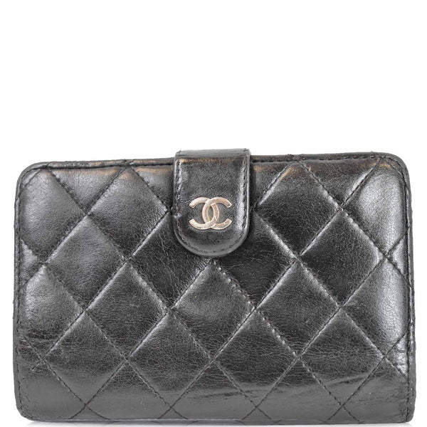 Chanel CC Lambskin Leather Bifold Wallet Men | Women
