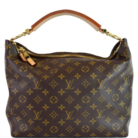 LOUIS VUITTON Sully PM Monogram Canvas Shoulder Bag Brown
