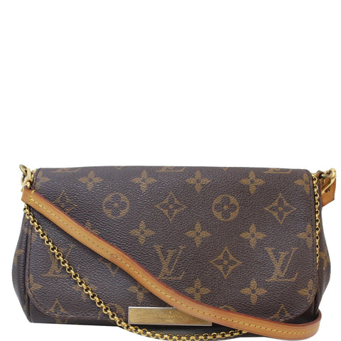 LOUIS VUITTON Favorite PM Monogram Canvas Crossbody Bag Brown