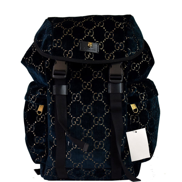 Gucci Medium GG Monogram Velvet Classic Backpack