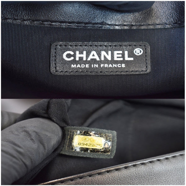 Chanel Boy Enchained Medium Calfskin Leather Flap Bag made in France
