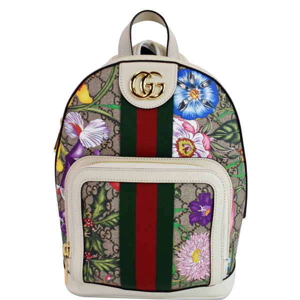 Gucci Ophidia GG Flora Small Supreme Canvas Backpack