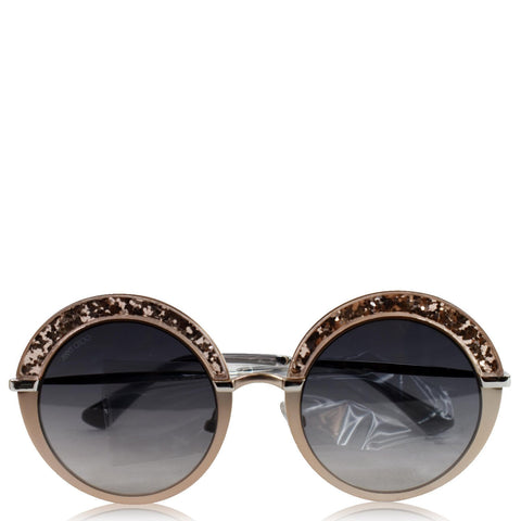 JIMMY CHOO Grey Gradient Round Sunglasses GOTHA/S 509C 50