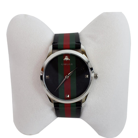 GUCCI G-Timeless Strap Watch Black 38mm