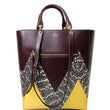 "MULBERRY Large Maple ""M"" Snakeskin Oxblood Smooth Calf Tote Bag Burgundy"