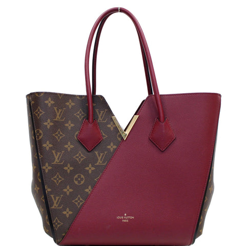 LOUIS VUITTON Kimono Monogram Calfskin Tote Bag Brown/Burgundy