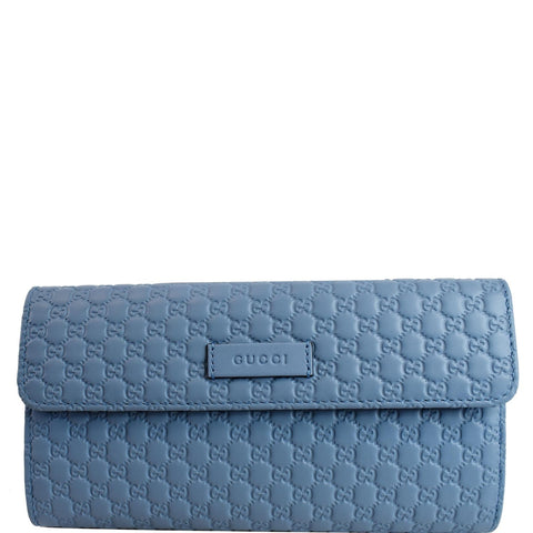 GUCCI Microguccissima Leather Wallet Light Blue 449364