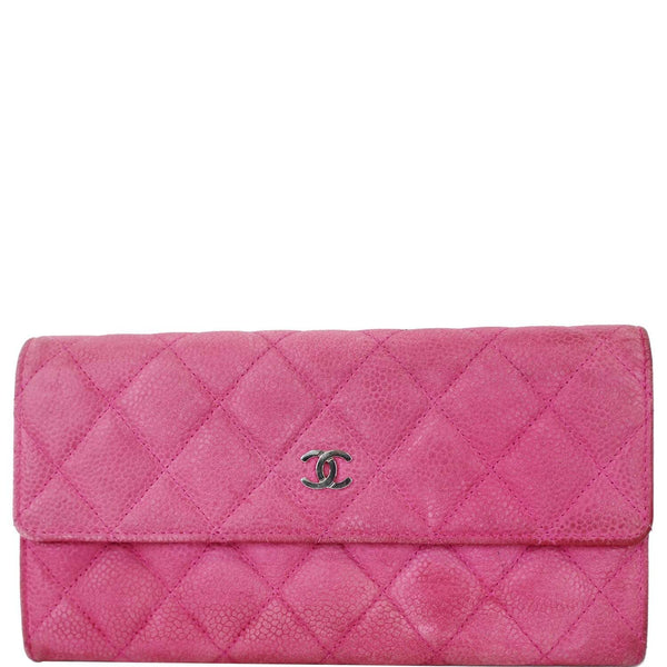 Chanel CC Caviar Leather Long Wallet Pink | Model 2015