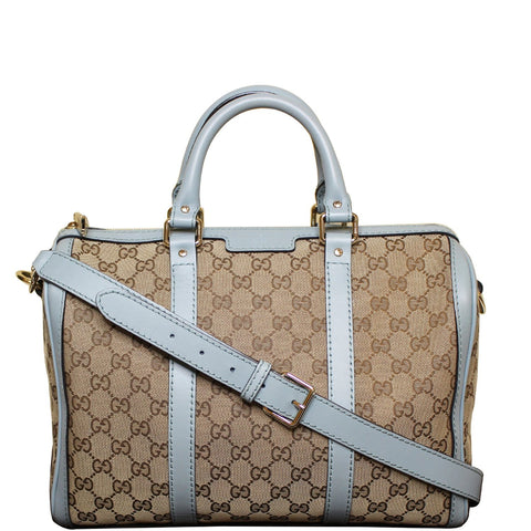 GUCCI Vintage Web Original GG Boston Bag Beige 247205