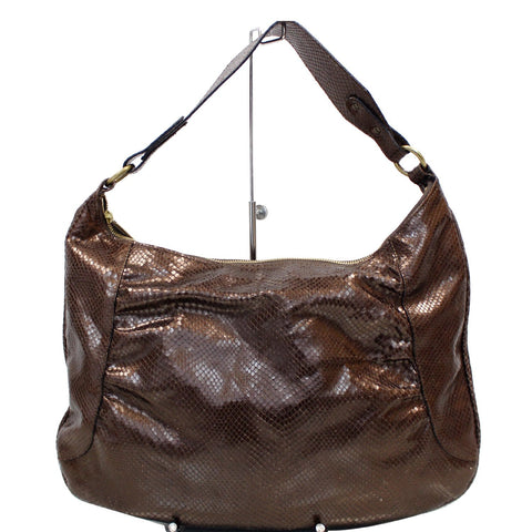 BURBERRY London Python Hobo Bag Bronze - 15% OFF