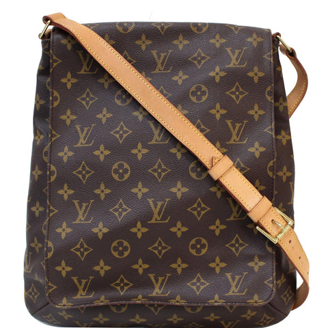 LOUIS VUITTON Musette Salsa GM Monogram Canvas Crossbody Shoulder Bag Brown