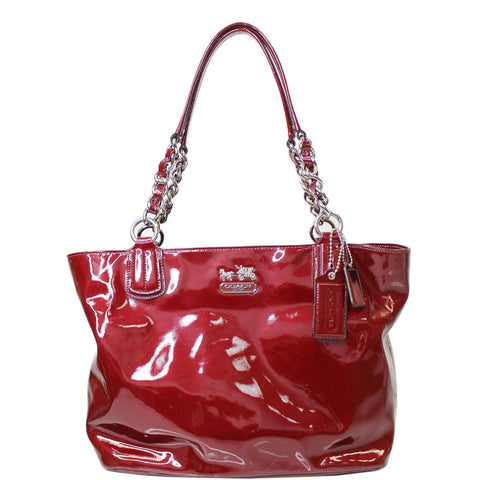 COACH 18770 Chelsea Patent Leather Shoulder Tote Bag Red
