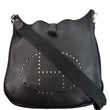 HERMES Evelyne TGM III Clemence Leather Crossbody Bag Black