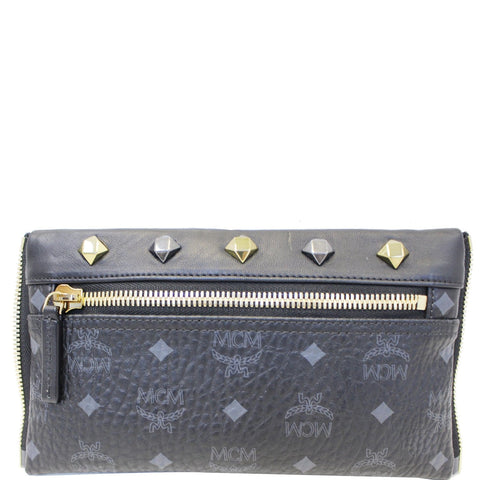 MCM Visetos Crossbody Bag Black