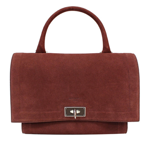 GIVENCHY Medium Shark Suede Leather Satchel Bag Taupe - 20% OFF