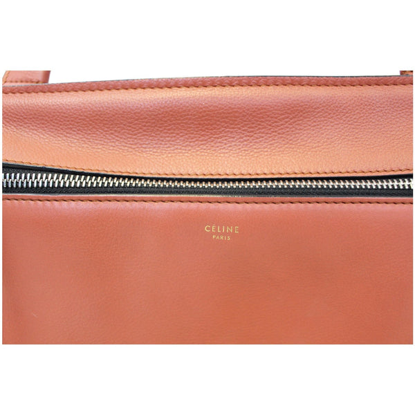 Celine Edge Smooth Calfskin Leather Bag-Zip style