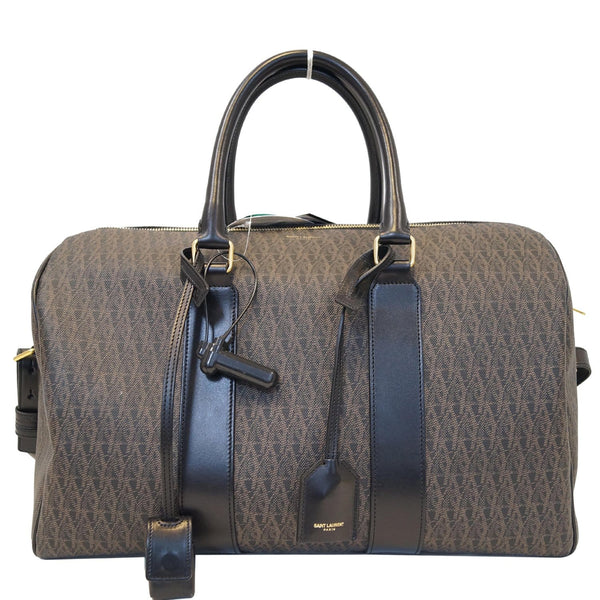 YVES SAINT LAURENT Classic Monogram Weekend/Travel Duffle Bag Dark Brown - 20% OFF