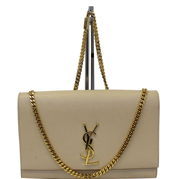 YVES SAINT LAURENT Kate Medium Leather Crossbody Bag Beige