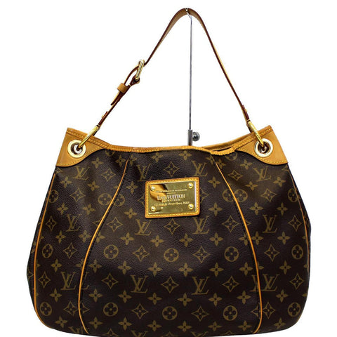 LOUIS VUITTON Galliera PM Monogram Canvas Shoulder Handbag Brown