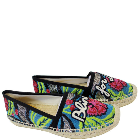 GUCCI Embroidered Blind For Love Espadrilles Flat Multicolor US 6 - 20% OFF