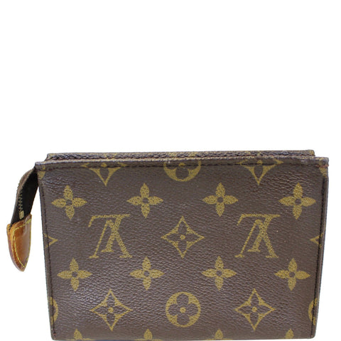 LOUIS VUITTON Monogram Canvas Toiletry Pouch Brown