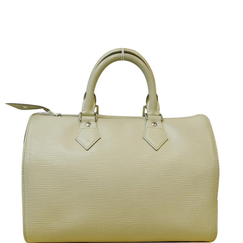 LOUIS VUITTON Speedy 30 Epi Leather Satchel Bag Ivory