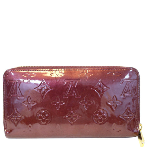 LOUIS VUITTON Monogram Vernis Zippy Wallet Amarante