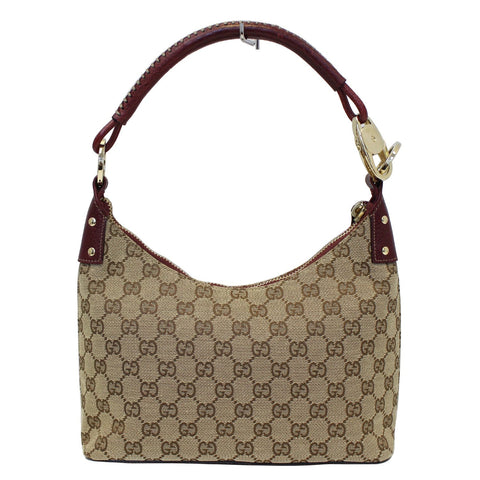 157a05f2fed7cd GUCCI GG Canvas Classic Ring Tote Shoulder Bag Beige